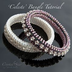 Use Swarovski Montees and seed beads to create ONE OF TWO sparkling bangle designs (or maybe both! This ONE tutorial shows how to create TWO very different bangles. The bangle is approximately wide and the pattern is easily adjusted to. Beading Patterns Free, Beaded Jewelry Patterns, Bracelet Patterns, Seed Bead Tutorials, Beading Tutorials, The Bangles, Beaded Bracelets Tutorial, Right Angle Weave, Slippers