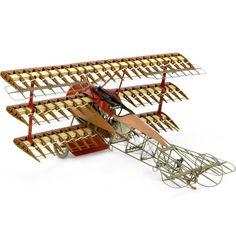 Hout modelbouw Fokker vliegtuig