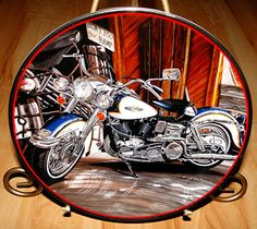 Harley Davidson 1968 Electra Glide Motorcycle Franklin Mint Collection Plate & Harley-Davidson 1987 Christmas Plate | Motorcycles | Pinterest ...