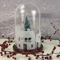 Create this project with Americana® Frost Gloss Enamels™ — This frosty village…