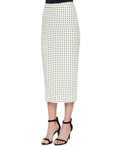 Long Dotted Pencil Skirt by A.L.C. at Neiman Marcus.