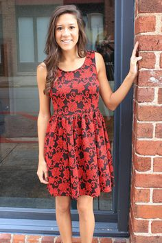 Red Zone Dress - Cheeky Peach - A style and service boutique in Downtown Athens, Georgia
