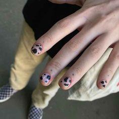 Short Nail Manicure, Edgy Nails, Trendy Nails, Short Nails, Swag Nails, Natural Nail Designs, Short Nail Designs, Nail Art Designs, Men Nail Polish