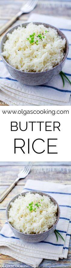 A fairly simple and easy recipe that brings out a lot of childhood memories for me. I loved the way mom used to make rice. She would never make it fancy, unless she was making plov, just simple white rice and yet it always tasted so good! Her secret was an unforgiving load of butter....