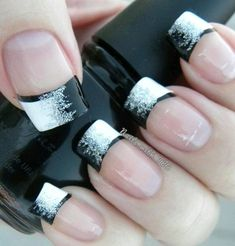 French Nail Art designs are minimal yet stylish Nail designs for short as well as long Nails. Here are the best french manicure ideas, which are gorgeous. Nail Designs 2014, French Tip Nail Designs, French Nail Art, French Tip Nails, Nailart French, French Pedicure, French Manicures, Pedicure Designs, Colored Nail Tips French