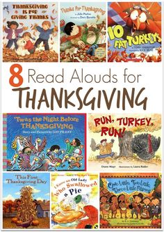 8 Read Alouds for Thanksgiving ~ plus a FREE Thanksgiving Pre-K/K Pack!   This Reading Mama