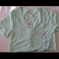NWT PINK VS Tee (XS) NWT Pink Victoria's Secret t shirt, XS, teal in color PINK Victoria's Secret Tops Tees - Short Sleeve