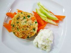 Foto dell'hamburger di quinoa con verdure