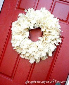 burlap wreath {tutorial}