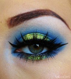 Seattle Seahawks Makeup. I could rock this!