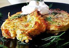 draniki-iz-kabachkov-i-kartoshki Fritters, Tandoori Chicken, Soul Food, Cauliflower, Zucchini, Deserts, Cooking Recipes, Meat, Vegetables