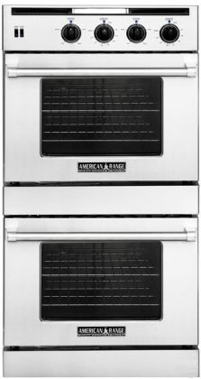 AROSSG-230SS Legacy Series 30 Large Natural Gas Double Wall Oven 4.7 Cu. Ft. Each Innovection Convection Oven Capacity Extra-large Viewing Window LED lights