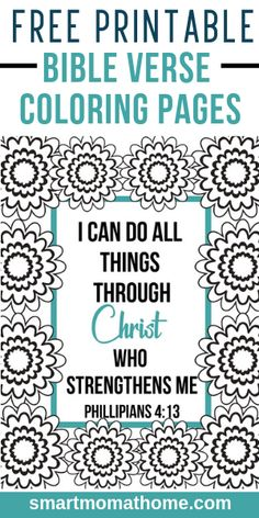 Use these pretty, free printable bible verse coloring pages to print and use for sunday school, bible study, and even bible journaling. Free Bible Study, Bible Study Journal, Bible Art, Printable Prayers, Printable Bible Verses, Bible Verse For Moms, Bible Verse Coloring Page, Bibel Journal, Bible Crafts For Kids