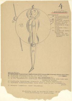Oskar Schlemmer. Disk Dancer (Scheibentänzer) from Notes and Sketches for the Triadic Ballet (Das triadische Ballett). (c. 1938)