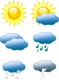 weather symbols by @sivvus, Weather symbols., on @openclipart