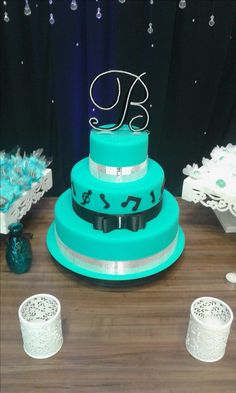 Juliana Bolos Fake - Bolo Azul Tiffany