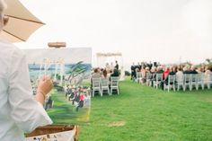 Ceremony Ideas - For a one-of-a-kind keepsake, hire an artist to paint your wedding ceremony as it happens.
