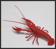 Crayfish Free Papercraft Download - http://www.papercraftsquare.com/crayfish-free-papercraft-download.html
