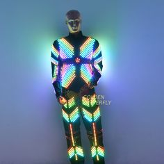 LED Clothing Glowing Luminous <font><b>Suits</b></font> Costumes 2017 Hot Fashion Twinkle Star Men LED Clothes Pants Dance Accessories Free Shipping