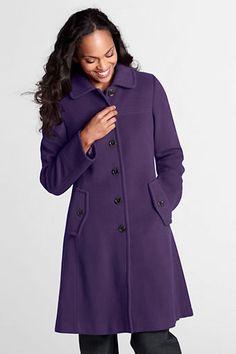 Women's Luxe Wool Swing Car Coat from Lands' End #PurpleCoat