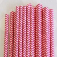 Chevron Paper Straws: Fuchsia - straws, containers and other cute party supplies (LOVE IT!)