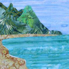 Hanalei Bay Cool Colors 10 5 Quot Batik Fabric Quilt Panel