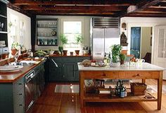 5 Gifted Tips: Condo Kitchen Remodel House simple kitchen remodel granite.Kitchen Remodel Before And After Travel Trailers kitchen remodel colors schemes. Farmhouse Style Kitchen, Farmhouse Interior, Rustic Kitchen, Interior Design Kitchen, Kitchen Ideas, Colonial Kitchen, Kitchen Carts, Ranch Kitchen, Ikea Kitchen