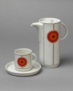"Coffee set, form ""ABC"", decor ""Target"" (Hans Theo Baumann for Thomas / Rosenthal, 1965)"
