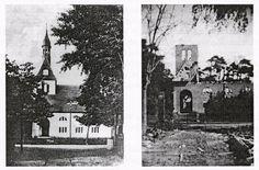 Die Kirche von Karlshagen vor und nach dem Bombenangriff Peenemunde