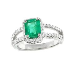 An emerald cut emerald ring worth saving for!