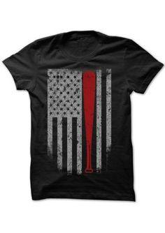 8a06825a3b7 American Flag O-Neck Baseball T-Shirt Sports Baseball