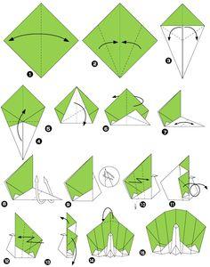 Paon en origami                                                                                                                                                     Plus