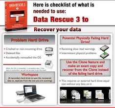 What you need to recover your own hard drive with Data Rescue Mac recovery software.