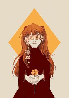 '02' by Cynthia Tedy (soltreis). Fan art of Asuka Langley Sohryu from Neon Genesis Evangelion