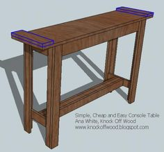 Ana White | Build a Simple, Cheap and Easy Console Table | Free and Easy DIY Project and Furniture Plans