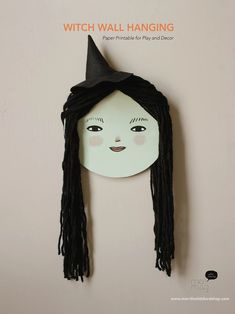 Printable Witch face Wall Hanging | merrilee-liddiard