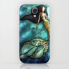 The Mermaid by Mandie Manzano Samsung Galaxy S4 Case $35
