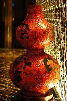 Chinese vase, Grand Lisboa Hotel. Macau, China