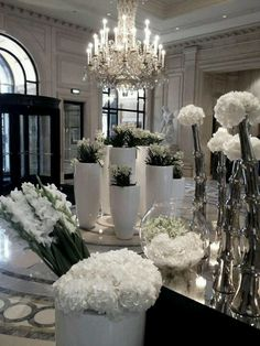 Chandeliers and flowers
