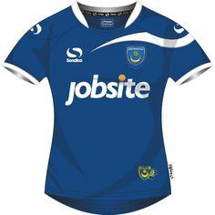 Portsmouth Sondico Pompey Home Shirt 2013-14 Football Shirts, Sports Shirts, Championship League, Fa Cup, Portsmouth, Club, Kit, Design, Sport T Shirts