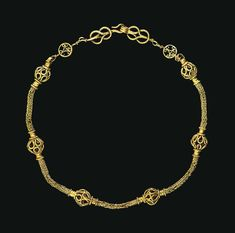 AN EARLY BYZANTINE GOLD NECKLACE CIRCA 4TH CENTURY A.D.