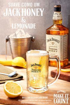 Cocktail Drinks, Alcoholic Drinks, Cocktails, Beverages, Jack Honey, Honey Lemonade, Gastronomy Food, Tennessee Honey, Beer Art