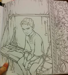 The Bone Carver in ACOWAR - from the Official ACOTAR Coloring Book