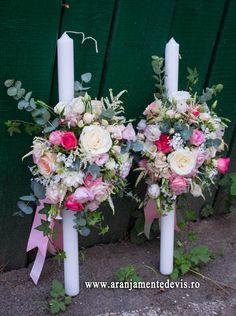 Corsage, Christening, Flower Arrangements, Candles, Weddings, Table Decorations, Bride, Home Decor, Baptisms