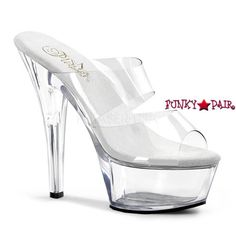 318ddd6fc56 BROOK-208 Funtasma Sexy Shoes 6 Inch Heel Platforms Clear Slip-On ...