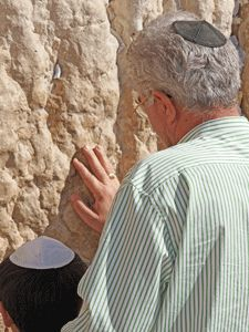This photo says it all--generations of Jewish people have wanted to return to Israel.  Now they can pray in the land God promised to their forefathers--an awesome thing and a blessing to be part of!