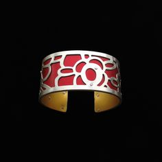 Handmade from sterling silver and anodized aluminum. #ilovegogojewelry #bloom #cuff