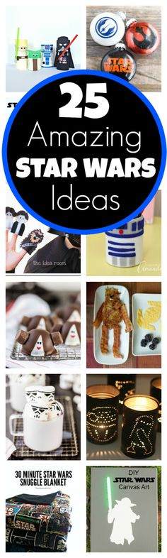 Loving these star wars ideas. Particularly the star wars candle cans!