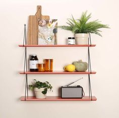 Babou shelf - Rose in April x Smallable Rose in April Children Adult- A large selection of Design on Smallable, the Family Concept Store - More than Coq Hotel, House Doctor, New Model, Color Inspiration, Storage Spaces, Floating Shelves, Bookcase, House Design