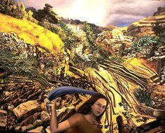 NADA ACKEL. NADEJDA ET VASSILY KANDINSKY, 1998. Huile sur toile (oil on canvas), 130x163 cm.